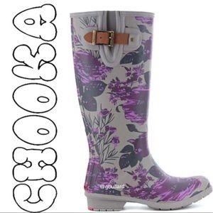 Women's Floral memory foam water proof boots